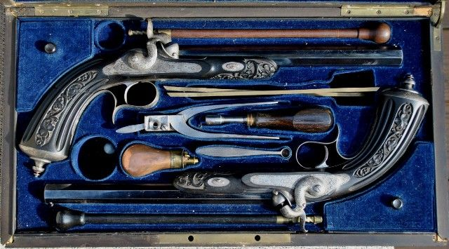 Cased Percussion Pistols