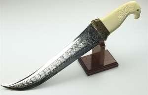 Wade Chastain Ivory Eagle Exhibition Knife