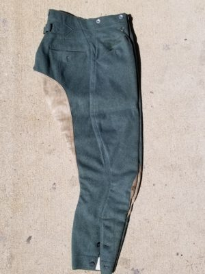 WWII German Army Wool Jodhpur Trousers with Leather Seat