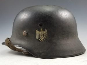 WWII German Army M40 Single Decal Helmet