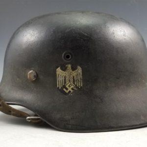 WWII German Army M40 Single Decal Helmet