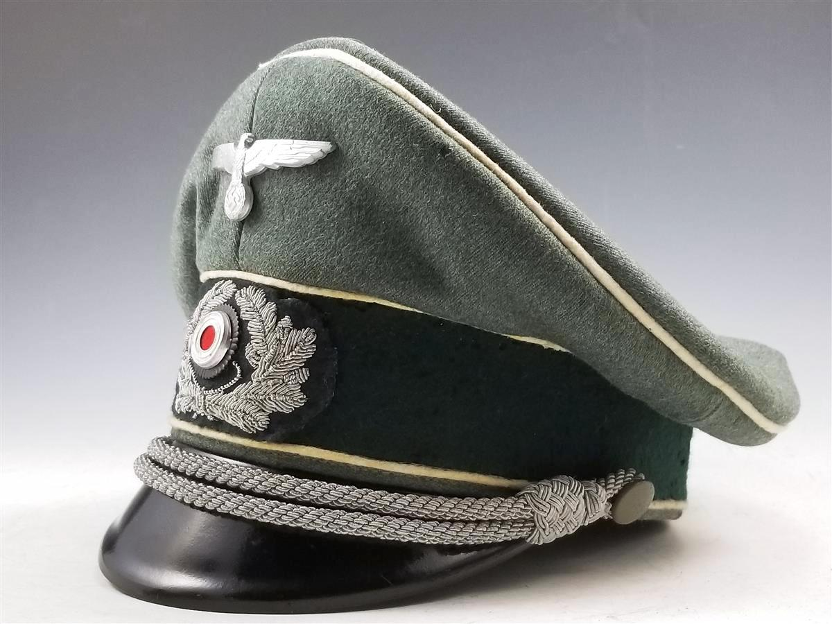 c6f5e30c6d8 WWII German Army Infantry Officer s Visor Cap Schirmmütze - Warpath