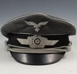 WWII German Luftwaffe Officer Shirmmutze Visor Cap