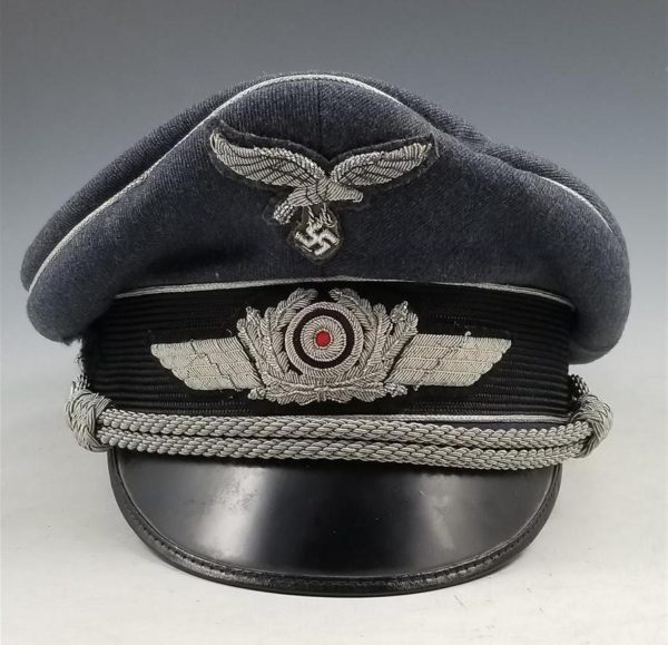 WWII German Luftwaffe Officer Shirmmutze Visor Cap