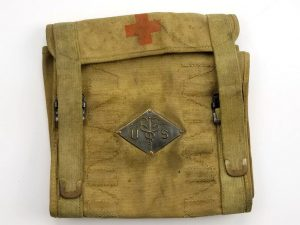 WW1 U.S. Medical Department Pouch with Rimless Eagle Head Snaps