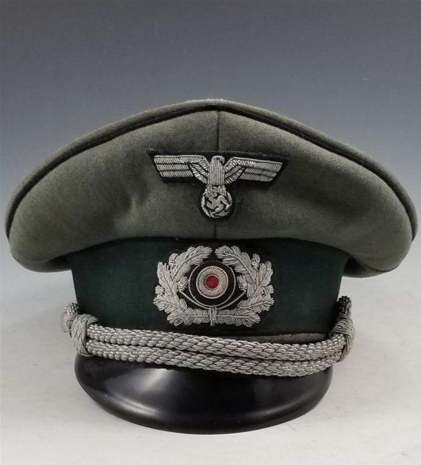 WWII German Army Pioneer Officer's Visor Cap Schirmmutze
