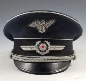 WWII German RLB Officer's Visor Cap