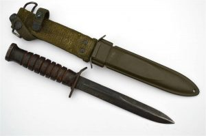 WWII CASE US M3 Fighting Knife Guard Stamped