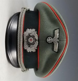 WWII German Army Officer's Artillery Visor Cap