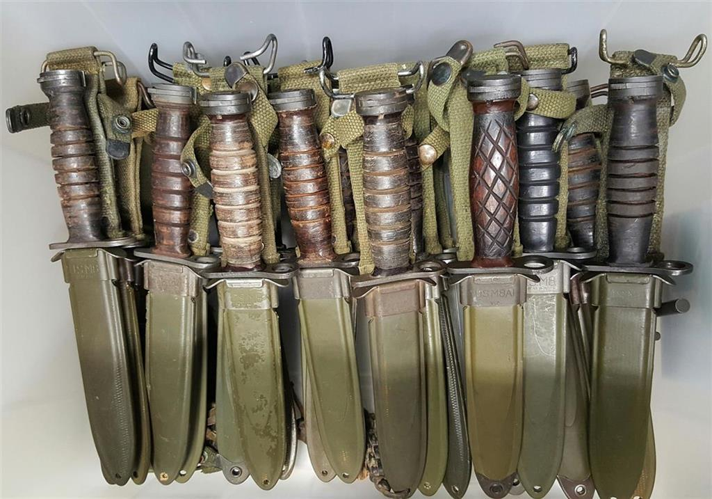M3 Fighting Knife and M4 Carbine Bayonet Collection