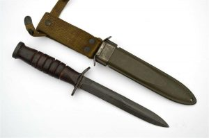 WWII PAL US M3 Fighting Knife Guard Stamped