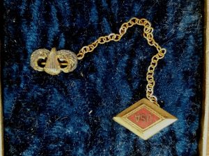 WWII Airborne Sweetheart Jewelry Jump Wing Pin
