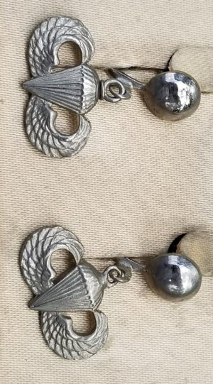WWII Airborne Sweetheart Jewelry Jump Wing Earrings Set