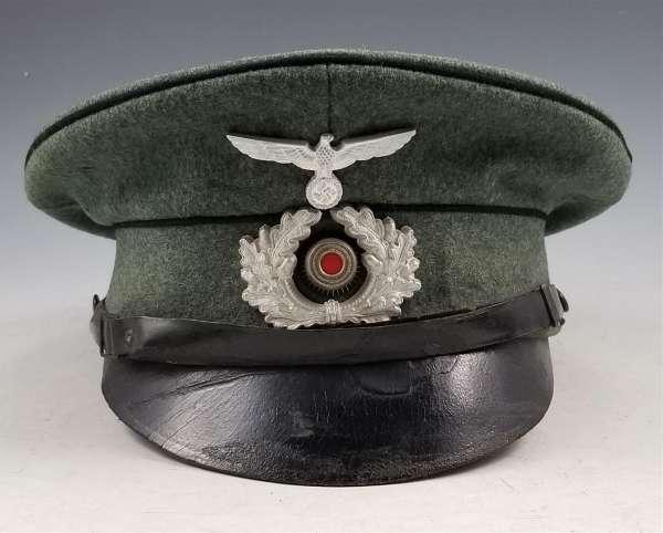WWII German Army Pioneer NCO Visor cap