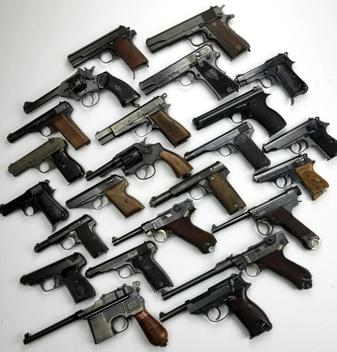 WWII Allied & Axis Pistol Collection