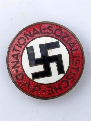 "NSDAP Membership Badge by ""RZM M1/72"" Buttonhole Version"