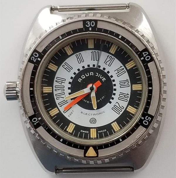 Vintage Aquadive Electronic Time-Depth Model 50 Divers Watch