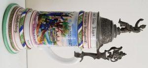 Imperial German Jager Regimental Porcelain Stein