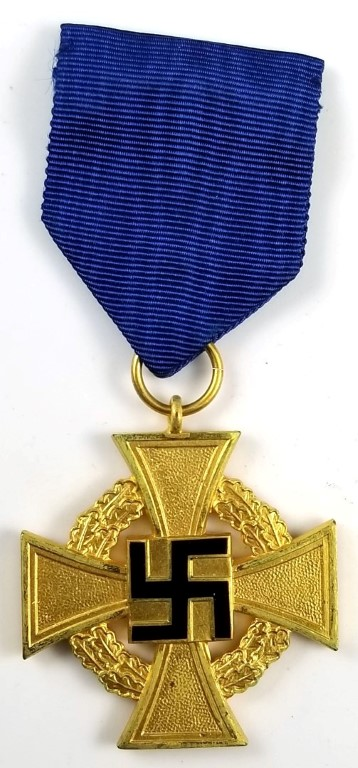 WWII German 40 Year Faithful Service Cross in Gold