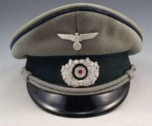 WWII German Army Medical Officer Visor cap